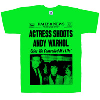 Actress shoots Andy Wharol T-Shirt